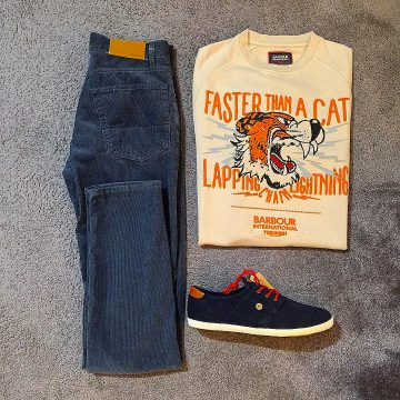 Look du jour Jeans Denham, sweat Paul & Joe, basket et ceinture FAGUO
