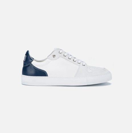 Baskets classiques «AMI» blanche/marine