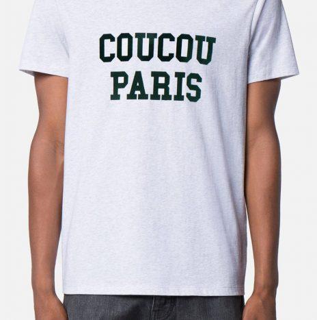 Tee-shirt «Coucou Paris» Ami gris clair