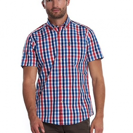 Chemise Gingham Barbour Manches Courtes red