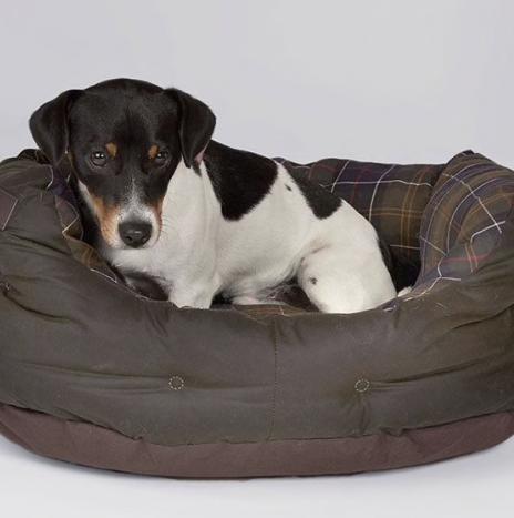 Dog Bed Barbour Olive