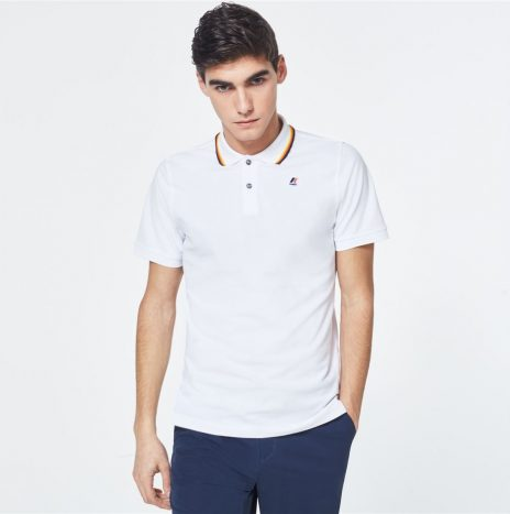 K-way Polo Jude Stripes Blanc