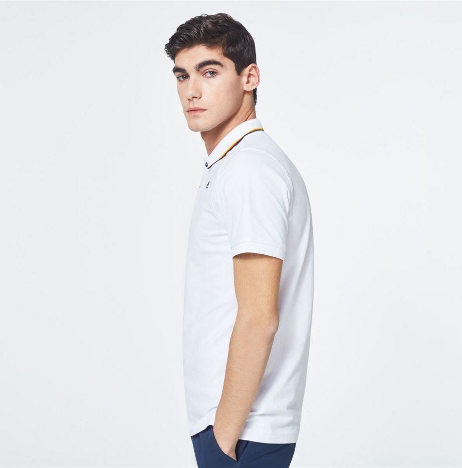 K-way Polo Jude Stripes Blanc