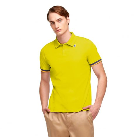 K-way Vincent Contraste Polo Green Lime