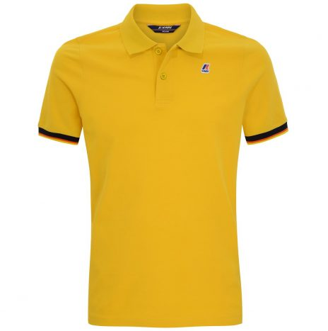 K-way Vincent Contraste Polo Jaune