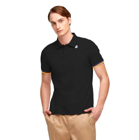 K-way Vincent Contraste Polo Noir