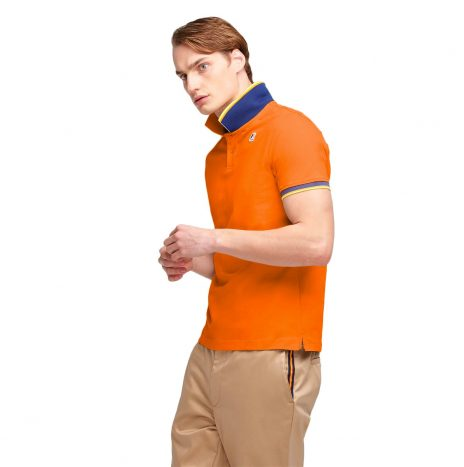 K-way Vincent Contraste Polo Orange