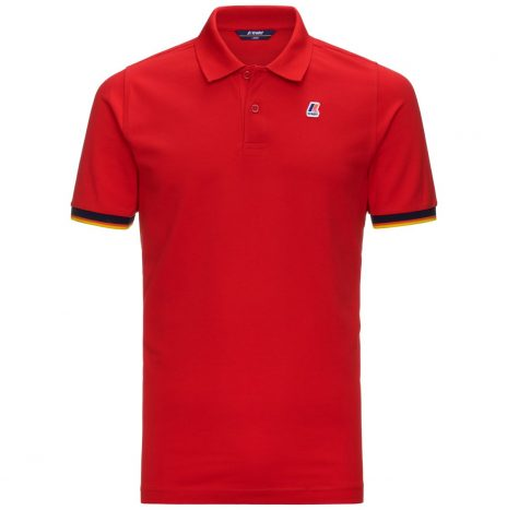 K-way Vincent Contraste Polo Rouge