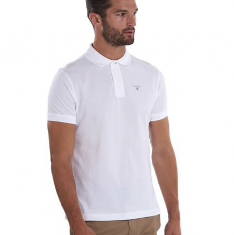 Polo Barbour Blanc