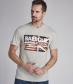 T-Shirt Vintage Flag Barbour Steve McQueen Grey Marl