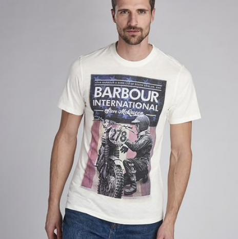 T-Shirt Fixer Barbour Steve McQueen Whisper White