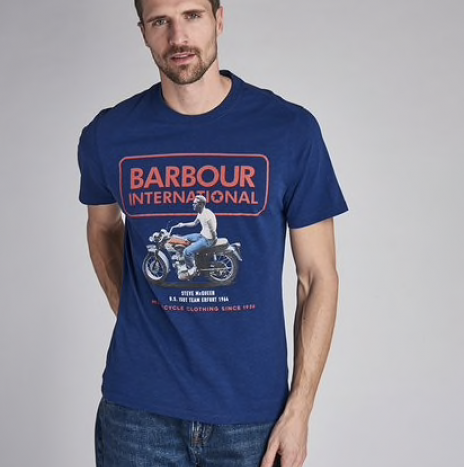 T-shirt Barbour Relaxed Steve McQueen Inky BLue