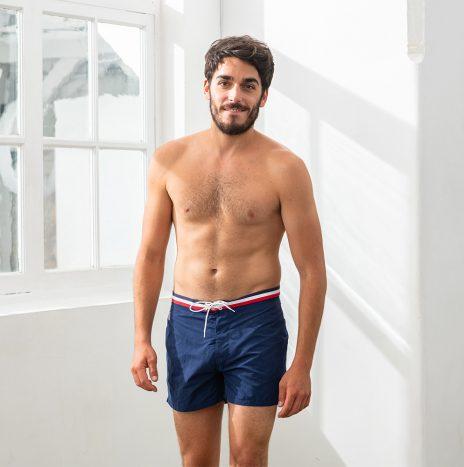 Le Capitaine Short de Bain Le Slip Français Marine