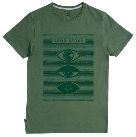 Tee-Shirt Good Story StepArt Sun Green Forest