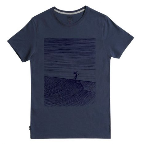 Tee-Shirt Moosa Head StepArt Navy