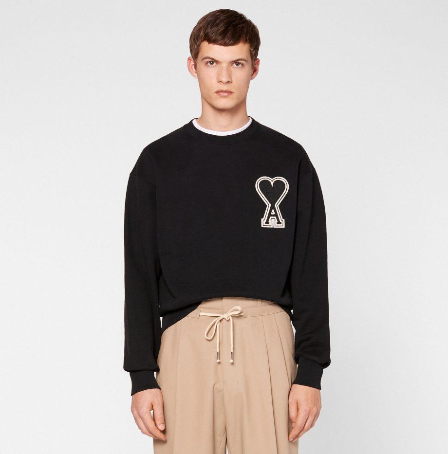 Sweatshirt_Big_Ami_de_coeur_Noir