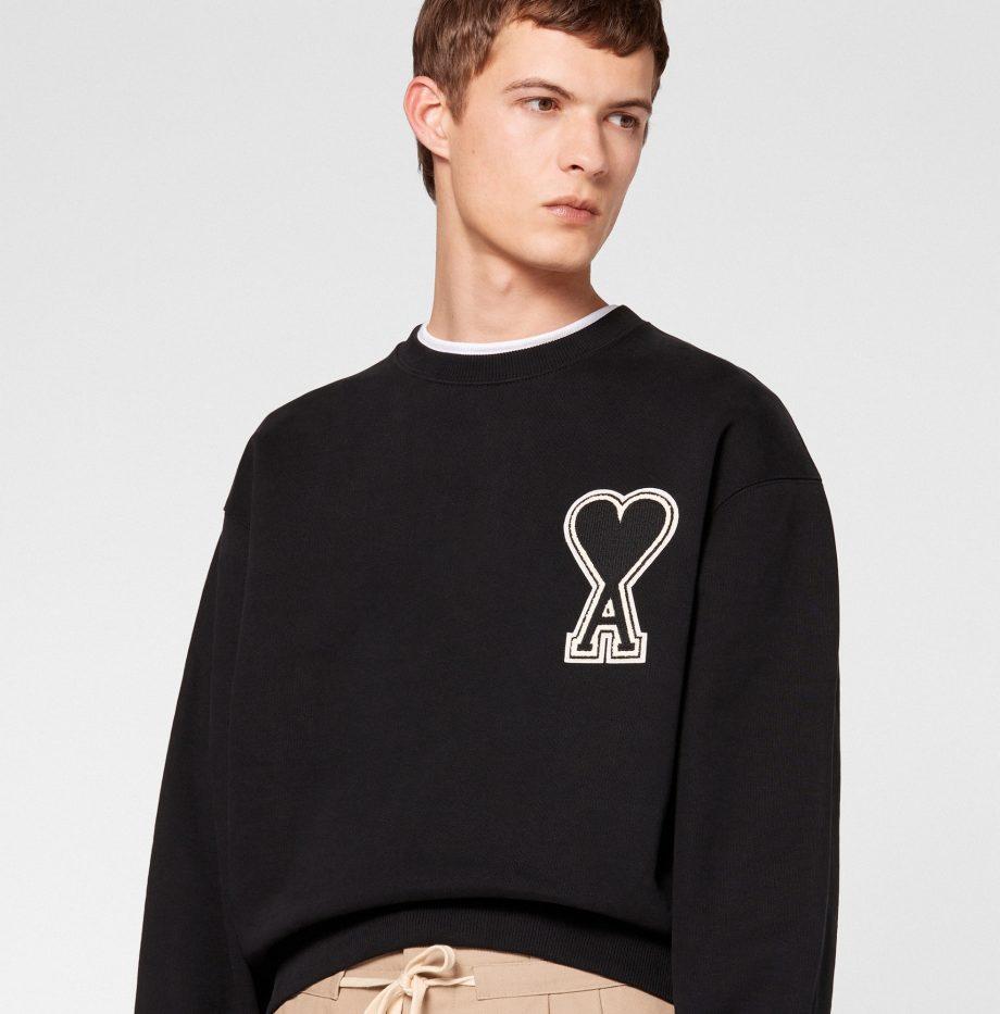 Sweatshirt Big Ami de coeur Noir