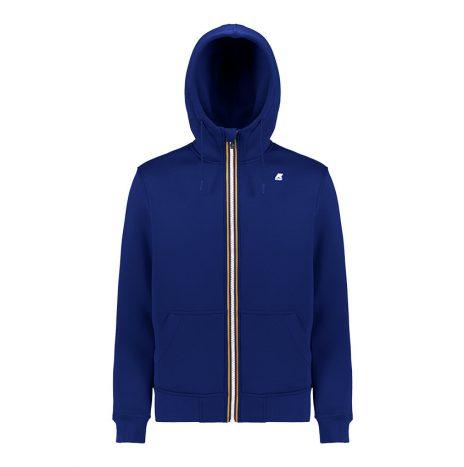 Berenger Sweat Zippé K-way Bleu Marine